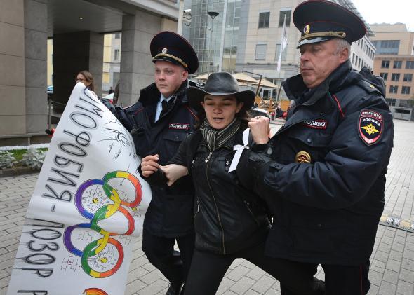 protestor russia