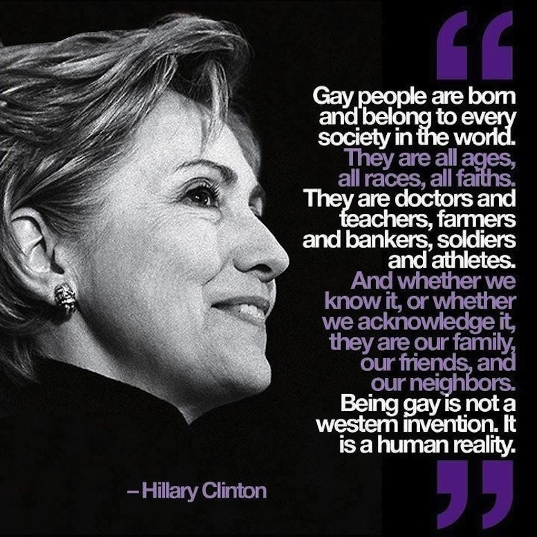 Hillary Clinton Pro Gay
